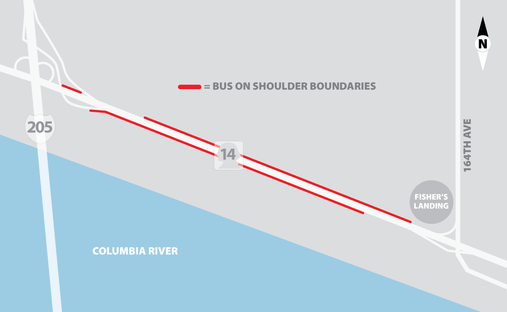 Bus on Shoulder Map1